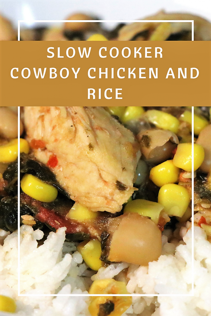 Simple slow cooker cowboy chicken and rice