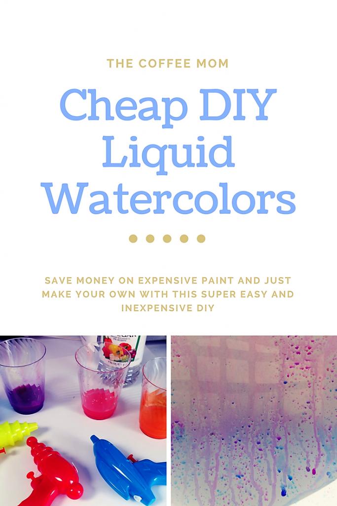 Inexpensive DIY Liquid Watercolor