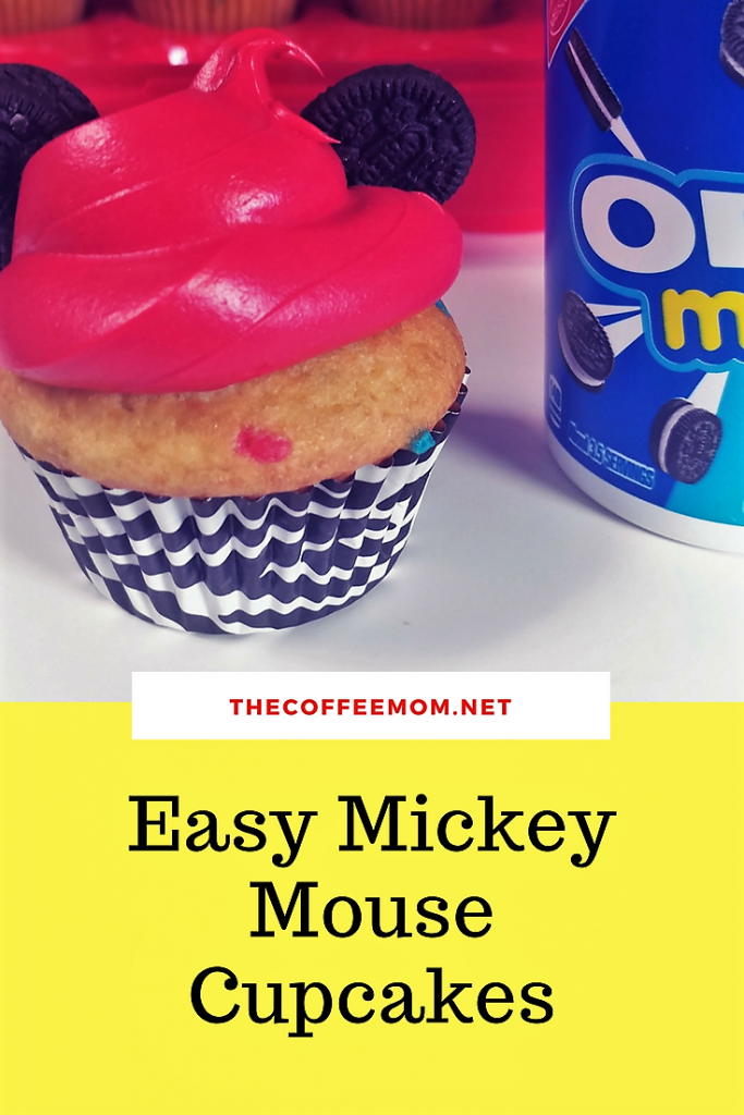 Super simple Mickey Mouse cupcakes perfect for a Mickey mouse birthday party