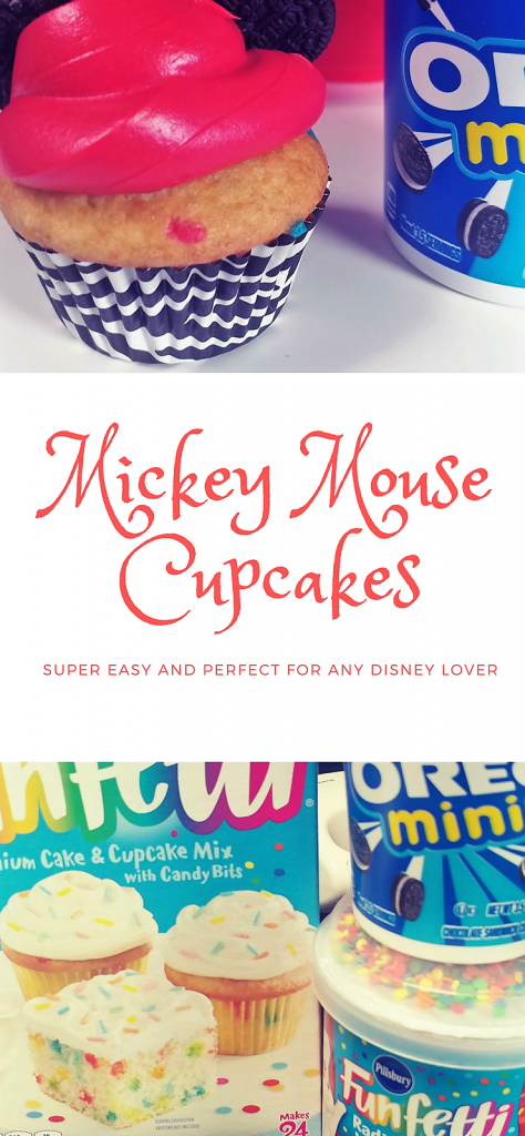 Super simple Mickey Mouse Cupcakes that any Disney lover can make at home! Perfect for a Mickey Mouse birthday.