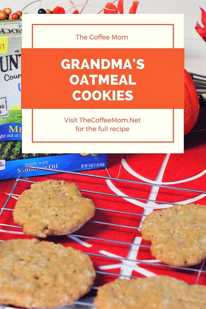 Grandma's Oatmeal Cookies #fallbaking #oatmealcookies