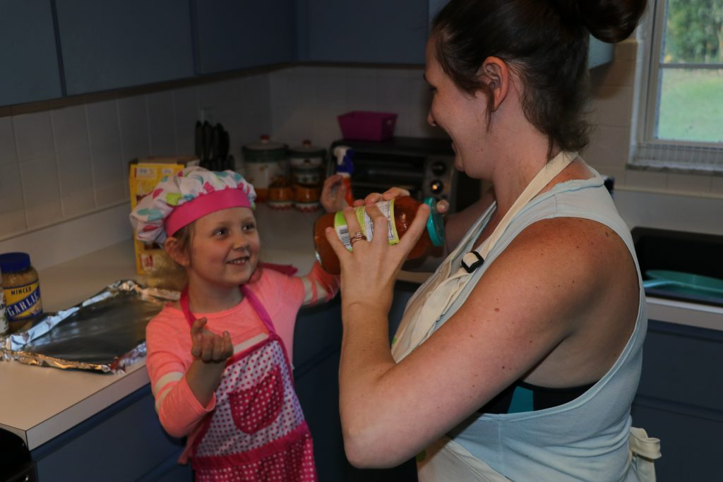 cooking with kids is fun