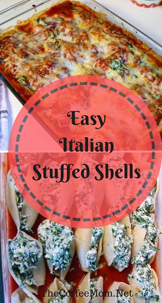 Easy Italian Stuffed Shells #StuffedShells #ItalianShells #ItalianStuffedShells