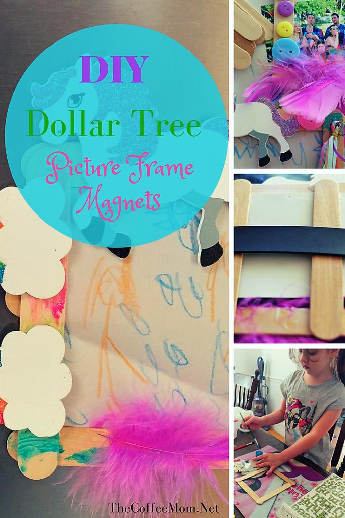 Kid's DIY Dollar Tree Picture Frame Magnet Craft