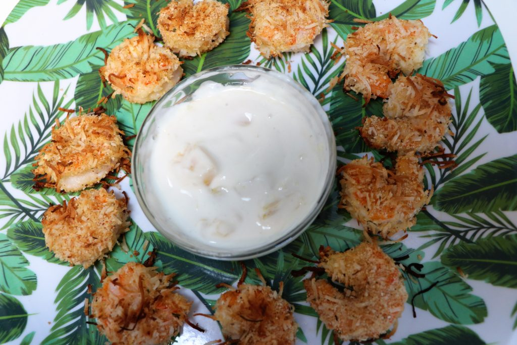 baked coconut shrimp and red lobster sauce