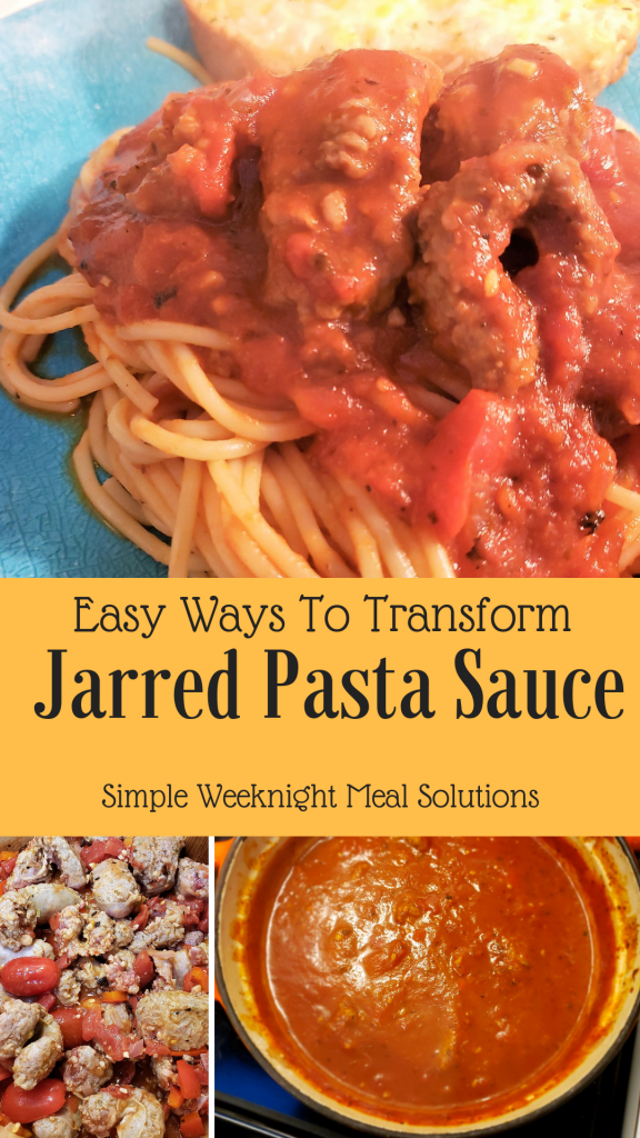 Transform Jarred Pasta Sauce. Cook like an Italian by elevating jarred pasta sauce. This budget friendly weeknight meal is perfect to please a crowd, large family and even the kids will love it!