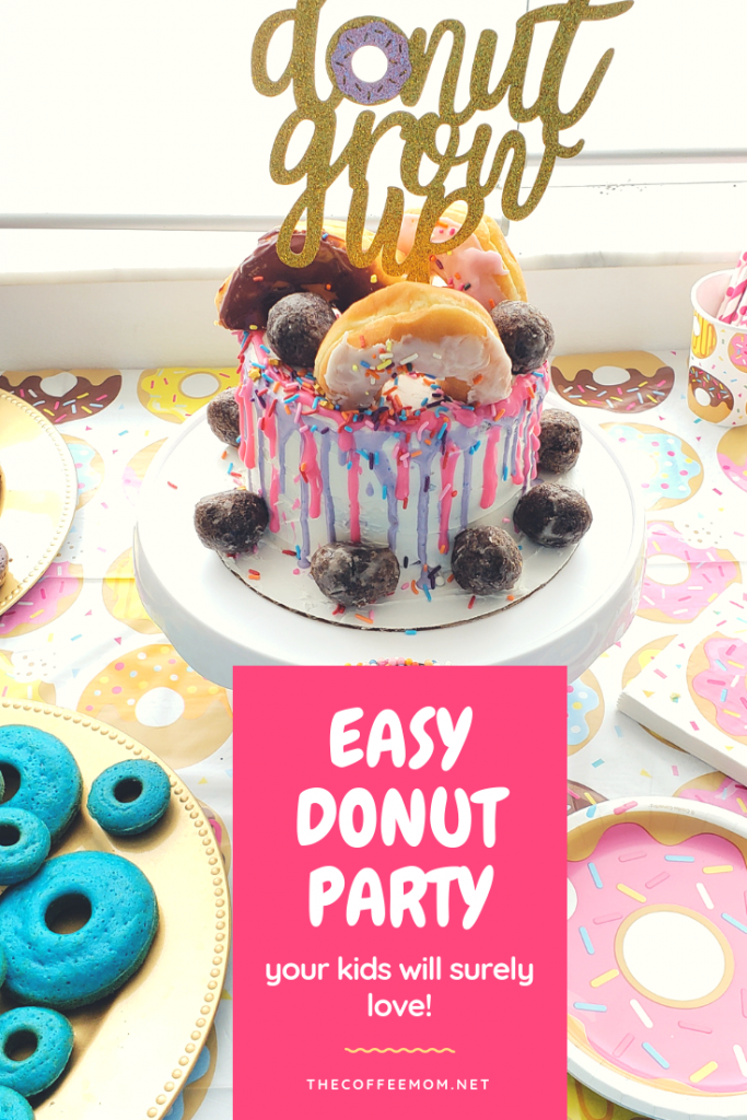 Donut Grow Up Birthday Party. This donut birthday party is super sweet and easy to pull off! Make a simple donut drip cake, create a DIY donut bar, and get the cutest donut party accessories for a steal!