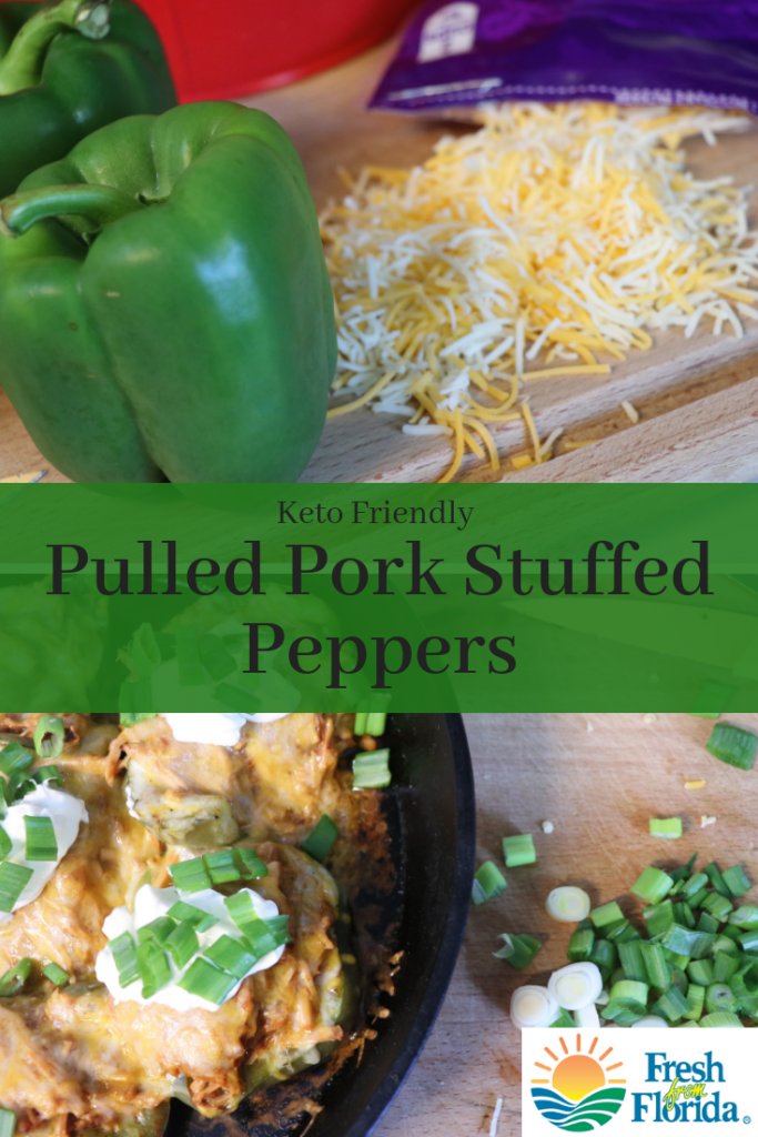 Keto pulled pork stuffed peppers. #ad #peppers #freshfromflorida