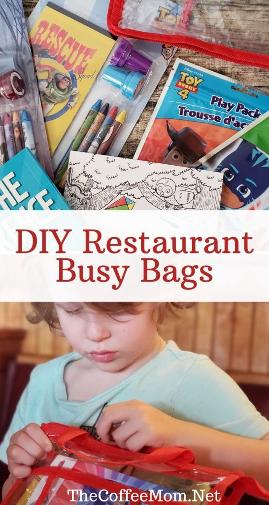 Taking toddlers to restaurants can feel like walking into war! Everything is unpredictable, will they scream? Will they cry? No one knows! Most of us don't want to just hand our kid a phone to keep them entertained at a restaurant, so what is a busy mom to do? DIY restaurant busy bags have saved my dinner quite a few times! With fun and inexpensive activities, these bags are a real dinner time lifesaver!