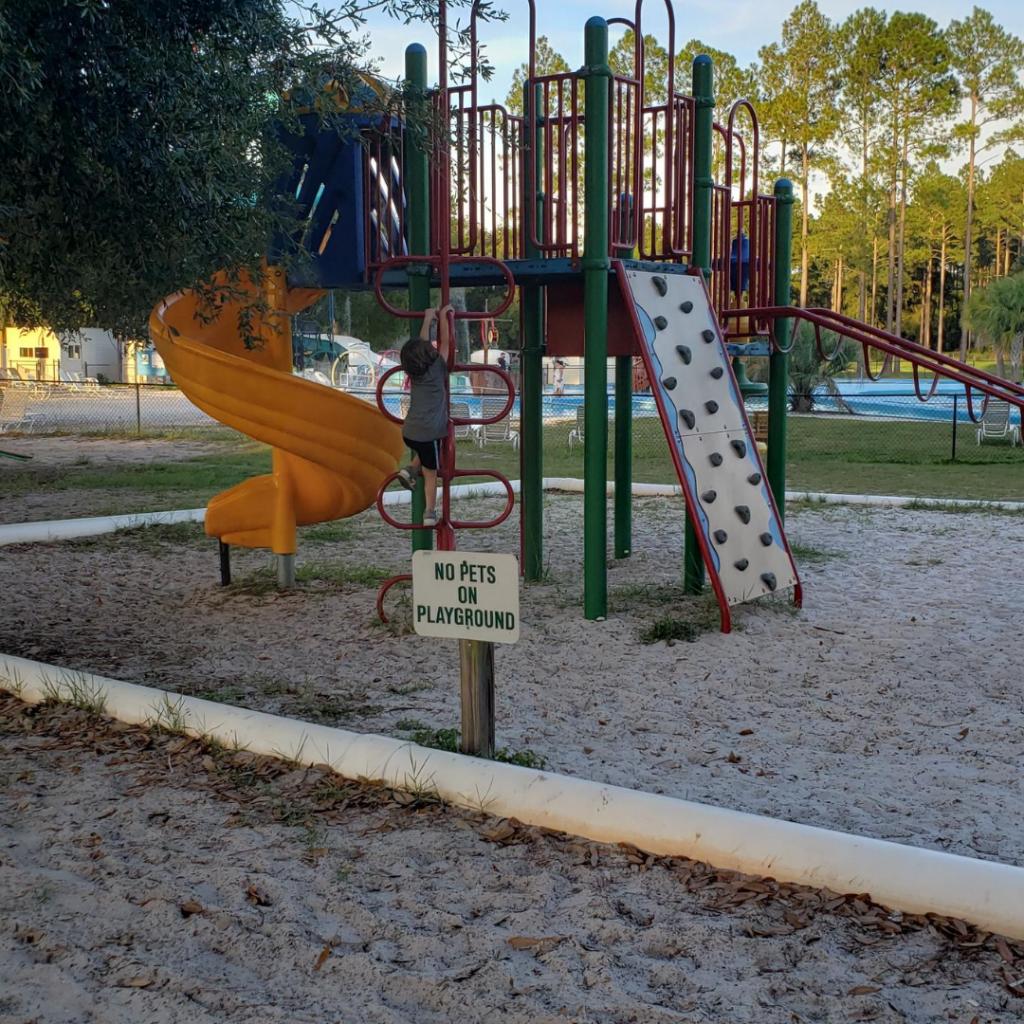 playground at ragans family campground