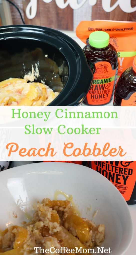 Warm, sweet, and deliciously simple, this slow cooker peach cobbler is the perfect dessert for busy days. Just toss it in a slow cooker with a few minimal ingredients, forget it for a few hours, and come back to a perfectly sweet honey cinnamon slow cooker treat.