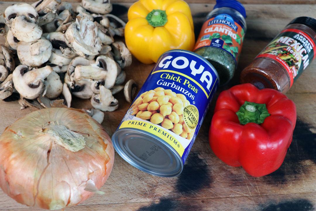 chickpea fajita ingredients