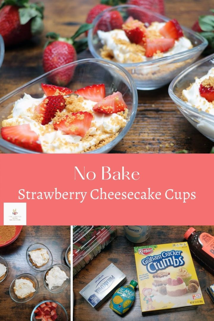 No-Bake Strawberry Cheesecake Cups are an easy dessert that adults and kids will love. Quick and simple with just a few ingredients, these are guaranteed to be your new favorite simple dessert!