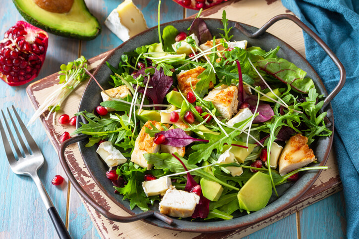 Pomegranate and chicken salad